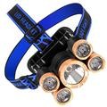 Hendyijb Outdoor High-Power Flashlight 3LED White Night Fishing Light Headlight Lamp Charging 5led (Color : A)