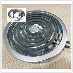 Drip Pans for Electric Stove, Drip Pan 6/8 in Fits Whirlpool, Frigidaire Tappan, Modern Maid and Magic Chef, Heavy Duty Chrome Finish, Speeds Cooking Time Saving Energy (Silver)