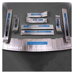 Car Door Sill Threshold For Ford Ecosport 2018-2019 Stainless Steel Rear Bumper Car Door Cover Inside And Outside Door Sill Plate 9pcs Door Sill Guard Scuff Plate (1)