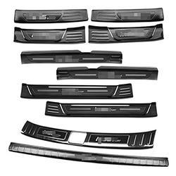 Car Door Sill Threshold For Hyundai IX35 2018 2019 Stainless Steel Rear Bumper Car Door Cover Inside And Outside Door Sill Plate Door Sill Guard Scuff Plate (10pcs)