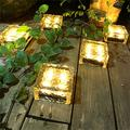 1PC Beautiful solar ice lights, LED outdoor decorative lights deck lights, outdoor lights that can be used for garden decoration, underground lights, solar lights, street lights, atmosphere lights (L)