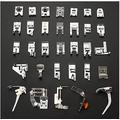 Replacement Part for M.C 32Pcs Complete Sewing Machine Presser Press Foot Walking Feet Set for Brother Singer Toyota Domestic Sewing Machine Parts