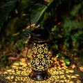 Solar Lantern Outdoor Hanging Lights, IP65 Waterproof LED Table Solar Lights,Metal Solar Powered Lights ,Solar Decorative Lights for Patio, Courtyard, Party Decorations, Garden and Tabletop