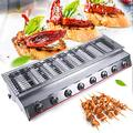 Haoo 40'' Tabletop Grill Commercial LPG Gas BBQ Grill w/ 8 Burners Portable Gas Barbecues Griddle w/ 8 Independent Switches Gas Grill Griddle for Parties
