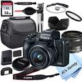 Canon EOS M50 Mirrorless Digital Camera with 15-45mm Lens + 32GB Card, Tripod, Case, and More (18pc Bundle)