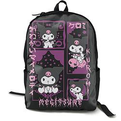 Casual Classic Backpack Kuromi and My Melody Shoulder Backpacks Packable Bags Business Backpack Travel Hiking Camping Daypack Backpack for Men/Women