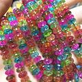BD-28078 DIY Beads Multicolor Simulated Tourmaline Faceted Abacus Crystal 5x8mm Rondelle Watermelon Jades Loose Beads Jewelry Making 15 Inch MY4615