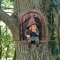 Lyfreen Elf Out The Door Tree Hugger,Mini Garden Tree Gnome Whimsical Tree Sculpture Garden Peeker Yard Art Whimsical Tree Sculpture Garden Decoration