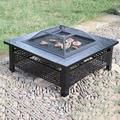 ZSEFV Outdoor Fire Pits Outdoor Fire Pit, Multifunctional Garden Terrace Fire Bowl Heater,BBQ Grill Fire for Backyard Garden Camping Picnic Fire Pit Tables for Outside Patio