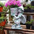 TRGCJGH Angels Statue Flower Pot,Angels Garden Statue Figurine for Indoor Outdoor Patio Garden Decorations Lawn Yard Decorations and Gift,Flowerfairyright