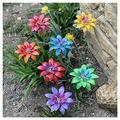 Metal Daylily Flower Garden Stakes, Daylily Flower Garden Stakes Decor, Mother's Day Flower Iron Crafts, Plant Pick Waterproof Metal Flower Stick Decor Metal Garden Art for Lawn Yard Patio (7PCS)