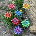 Jocund Floral Garden Stake Decor,Metal Daylily Flower Garden Stakes Iron Crafts Hand Forged Metal Garden Art,Outdoor Plant Pick Water Proof Ornament Decor for Lawn Yard Patio (Multicolor -7PCS)