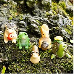 CFDZCP Garden Sculpture Outdoor Statues Garden Sculpture Miniature Garden Decorations, 5 Cute Mini Animal Fairies DIY Garden Accessories, Flower Pot Statues, Indoor, Outdoor, Home Decoration