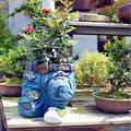 Denim Clothes Pants Resin Flower Pot, Resin Flower Pots Jeans Figurines Sculpture, Garden Denim Floral Pants Creative Flower Pot Decoration Ornaments, Sitting/Kneeling Pose Jeans Sculpture (Kneeling)