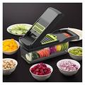MDBH Kitchen Accessories Vegetable And Fruit Slicer Grater Shredder Peeler Multi-function Device Drain Basket Tool (Color : Gray)