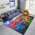 Personalized Field in Front of Beautiful Sunset Area Rug Non Slip Runner Rug for Hallway Bedroom Kitchen Stairs Living Room Outdoor Floor Rugs 2x3 3x5 4x6 5x8 Gift for Mom Play Area Rug