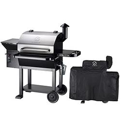 Z GRILLS 2021 Upgrade Wood Pellets Grill 1000 SQ IN 20LB Hopper 8-in-1 Outdoor Smoker Grill (ZPG-10002E) Cover Included