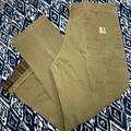 Carhartt Jeans   Mens Carhartt Lined Carpenters Jeans 38x30   Color: Green   Size: 38