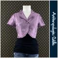 Anthropologie Jackets & Coats | 2005 Anthro Tennyson Bed Jacket By Odille | Color: Purple | Size: 8