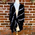 Torrid Jackets & Coats | 3for$30 Torrid Size 4x Black Tie Die Wrap Jacket | Color: Black/White | Size: 4x