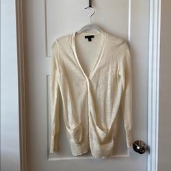 J. Crew Sweaters | Jcrew Xxs Lightweight Cream Long Cardigan | Color: Cream | Size: Xxs