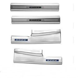 FLILING Car Door Sill Threshold For Ford EDGE 2015 216 2017 2018 Stainless Steel Rear Bumper Car Door Cover Inside And Outside Door Sill Plate Door Sill Guard Scuff Plate (3)