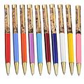 Weimay 10Pcs Ballpoint Pen Retractable Metal Ballpoint Pens, for Gift, Business, Office, 1.0mm Medium Point Black Ink