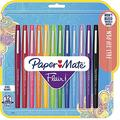Flair Felt Tip Pens | Medium Point 0.7 Millimeter Marker Pens | School Supplies for Teachers & Students | Assorted Colors, 12 Count 2-Pack (Assorted)
