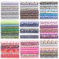 Tissu en coton à imprimés floraux pour couture, lot de 8 pièces de 30x30cm, étoffe pour couture,