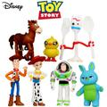 Figurines d'action Disney Toy Story 4, 7 pièces, jouets Woody Jessie Buzz Lightyear Forky Pig Bear,
