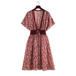 black cardigan mesh swimsuit cover ups for women tie dye swimsuit cover ups for swimwear women Floral Kimono Sleeve Chiffon
