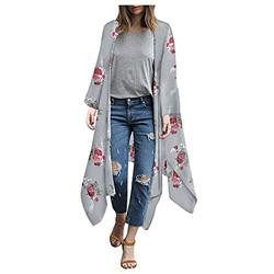 black cardigan mesh swimsuit cover ups for women full coverage swimsuits for women sheer pants swimwear cover up Women's Floral Kimono Cardigans Chiffon Casual Loose Open Front Cover Ups Tops