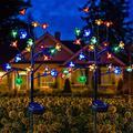 Solar Garden Lights,2 Pack Solar Lights Outdoor Decorative,HJMY Solar Path Lights,Solar Powered Sakura Lights,Multi-Color Pathway Lights Solar Powered for Garden, Patio Lawn, Backyard