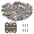 PGMJ 40 Pieces Antique Decorative Hinges Bronze Engraving Design Box Hinges Jewelry Box Hardware for Vintage Wooden Cases ,Toolbox,Jewelry Boxes, Cabinets , Gift Boxes, Wine Boxes(K58)