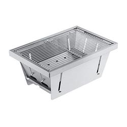 Charcoal Grill Portable Stainless Steel Grill Mini Outdoor Camping Barbecue Grill Charcoal Barbecue Grill Outdoor Commercial Folding Barbecue Tool Smoker BBQ Grill