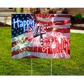 """Very Beautiful United States Of America Independence Day yard art patriotic yard art Yard Sign for Independence Day Flag House Flag Garden Flag (18""""x24"""")"""