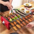 HANER Outdoor Electric Barbecue Grill, Household Mini Barbecue Grill, Portable Barbecue Tray Barbecue Tool Camping Garden, Removable Spice Rack, Barbecue Set That Can Accommodate 4-8 People