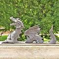 IPPLEE Dragon Statue,Large Dragon Gothic Garden Decor Statue The Dragon of Falkenberg Castle Moat Lawn Statue, Garden Sculptures Statues, Yard Art, Winter-Resistant Statue for Garden Crafts Statues