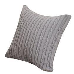 """Latitude Run® Knitting Throw Pillowcase Coffee Shop Sofa Cushion Cover Home Decoration 18"""" X 18"""" in Brown, Size 4.0 H x 17.7 W x 17.7 D in   Wayfair"""