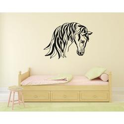 Darby Home Co Horse Silhouette Vinyl Wall Words Decal Sticker Equestrian Home Decor ArtVinyl in White/Black, Size 36.0 H in | Wayfair