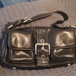 Michael Kors Bags | Michael Kors Hutton Flap Bag | Color: Black | Size: Os