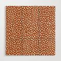 Wooden Wall Art | Burnt Orange Spots (white/burnt Orange) by Design Minds Boutique - 3' X 3' - Society6