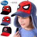 Disney – casquette de Baseball Spiderman pour enfants, chapeau d'hiver chaud pour garçons, casquette