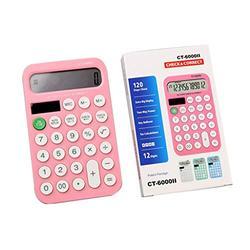 Basic Calculator Creative Candy Color Mini Calculator Calculator, Standard Functional Desktop Calculator Battery Power Electronic Calculator with 12-Digit Large Display Office and Home Calculator
