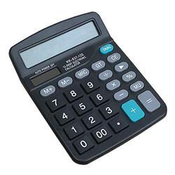 Basic Calculator Calculator, Amon Electronic Calculator with 12 Digit Large Display, Solar Battery LCD Display Office Calculator Office and Home Calculator