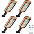 Solar Lights Outdoor, 160 LED Solar Security Lights Solar Motion Sensor Lights With Remote Control 120º Wide Angle Waterproof Solar Powered Wall Lights outside 3 Modes for Garden Pathway,4pcs