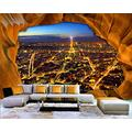 YTJBEI Photo Wallpaper Wall Mural -Night View of cave Entrance Non Woven Wall Mural Adults and Children Teen´s Room Office for Bedrooms 3D Mural Wall Decoration 300 X 210 cm