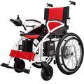 LJWJ Wheelchair Electric Wheelchair Folding Motorized Power Wheelchairs,Powerful Dual Motor Wheelchair, Lightweight, Only 37Kg,Heavy Duty, Dual Motor Folding Electric Wheelchair,for Disabled Elderly,