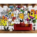 YTJBEI Photo Wallpaper Wall Mural -Abstract Style Non Woven Wall Mural Adults and Children Teen´s Room Office for Bedrooms 3D Mural Wall Decoration 300 X 210 cm