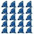DUDNJC Floor Laminate Flooring Spacers, 20PCS Laminate Wood Floating Flooring Installate Tools Kit, Hardwood Flooring w/1/4 Gap,Floor Easy Installation Working Tool (Blue)